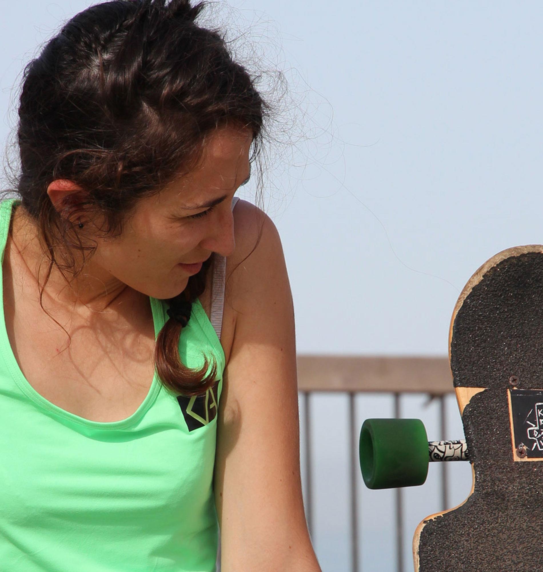 Session skate freeride à Biarritz avec Aude et Kiwi de l'Adour