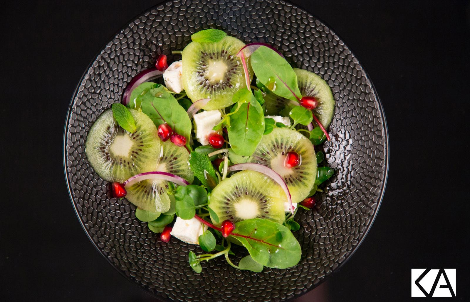 Recette de salade vert au fruit et salade jeune pousse