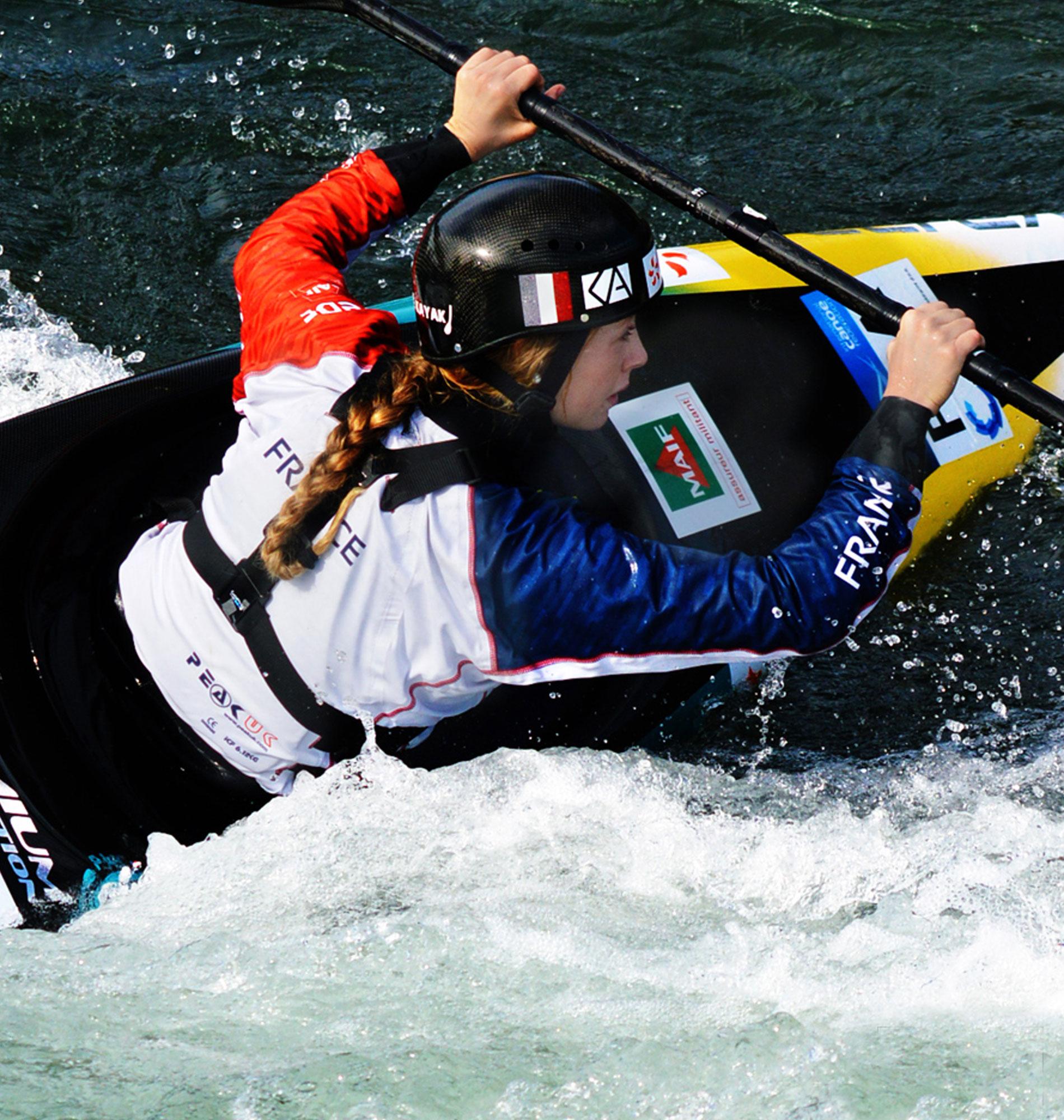 Kayak à Pau avec Marjorie