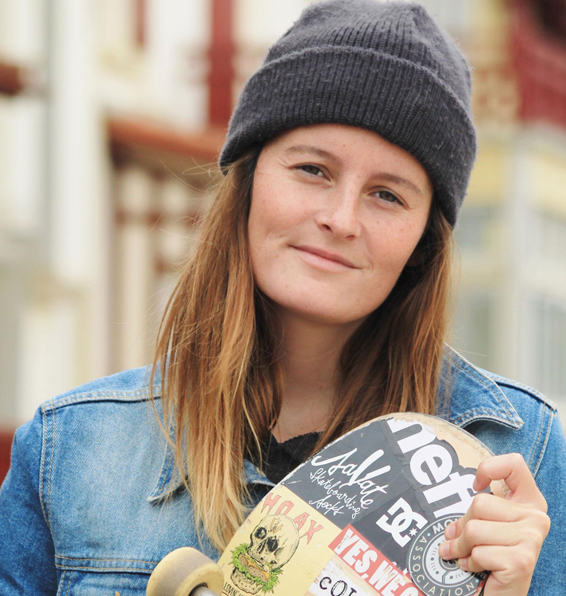 Skate à Saint-Jean-de-Luz avec Pauliana