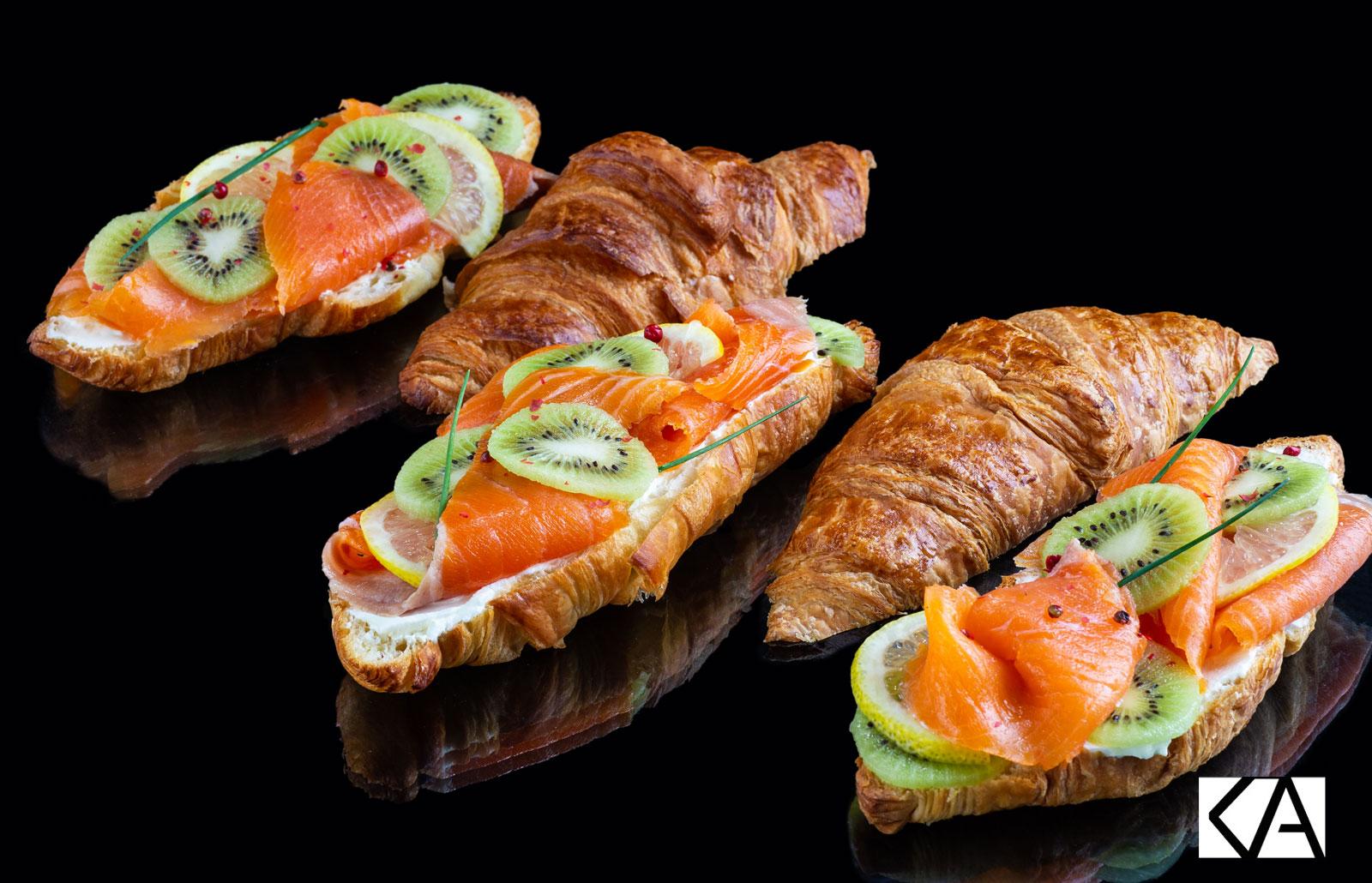 Recette de croissants au Kiwi de l'Adour et saumon