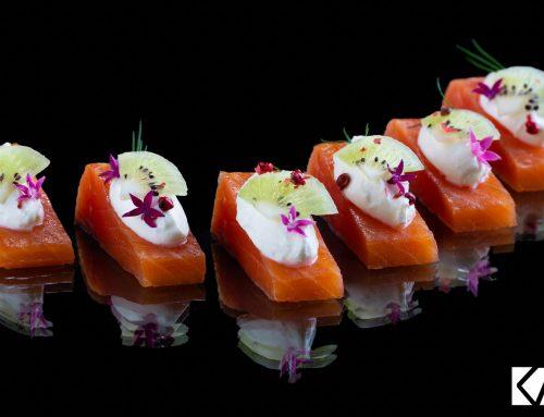 Recette de pavés de saumon fumés au Kiwi de l'Adour