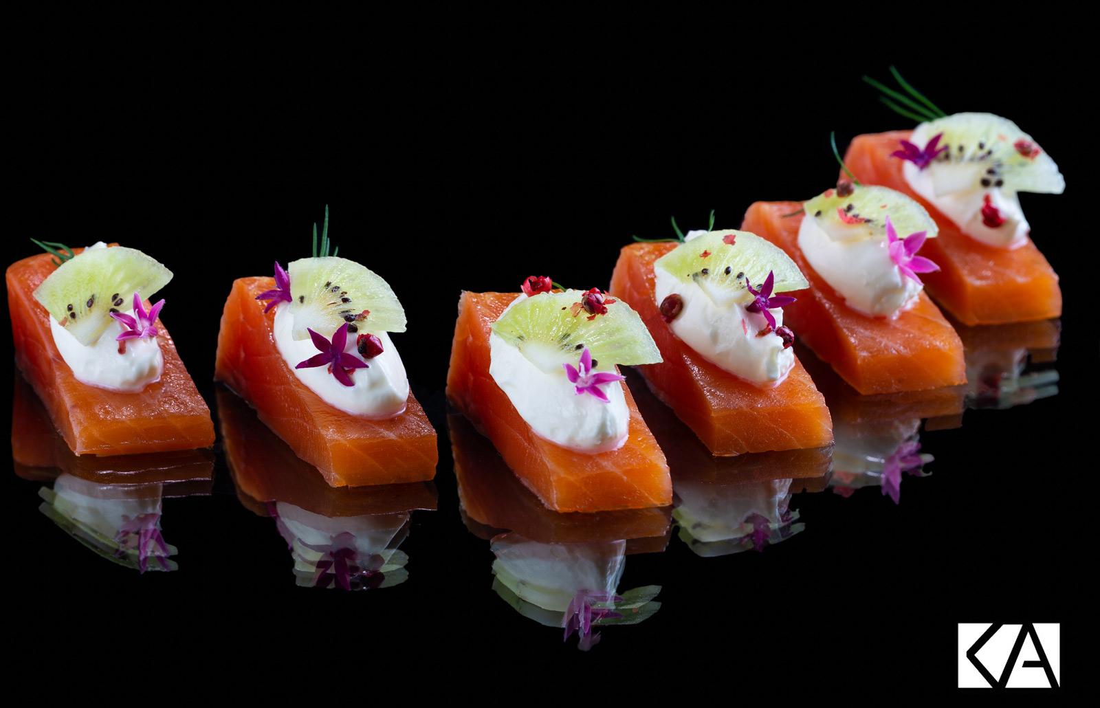 Recette de pavé de saumon fumé et Kiwi de l'Adour
